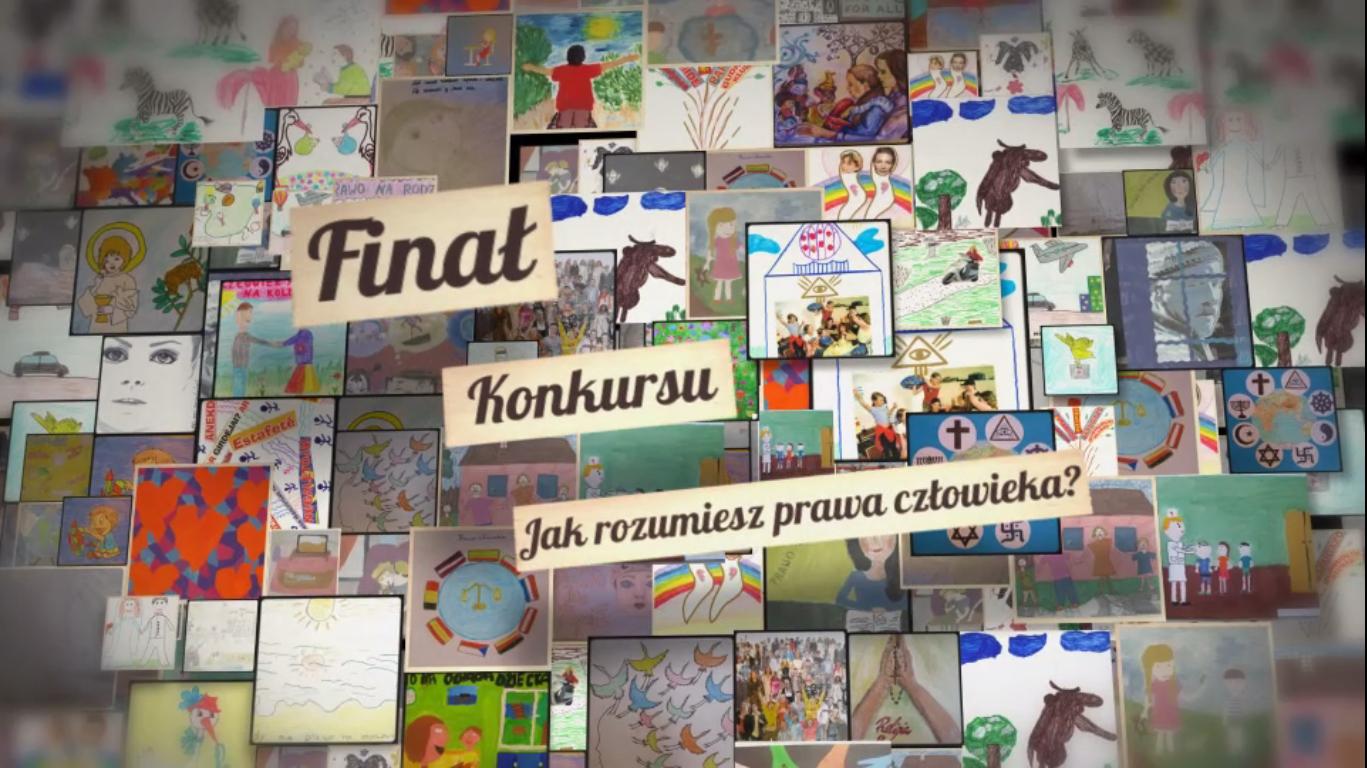Uroczysty finał konkursów Europejskiej Fundacji Praw Człowieka