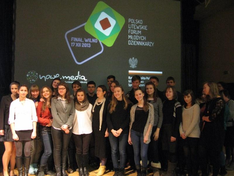 EFHR na na uroczystości finałowej projektu Forum Młodych Dziennikarzy