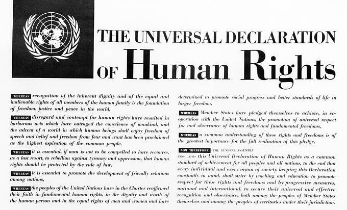 """Udział w konferencji z okazji 65-ej rocznicy podpisania """"Powszechnej Deklaracji Praw Człowieka"""""""