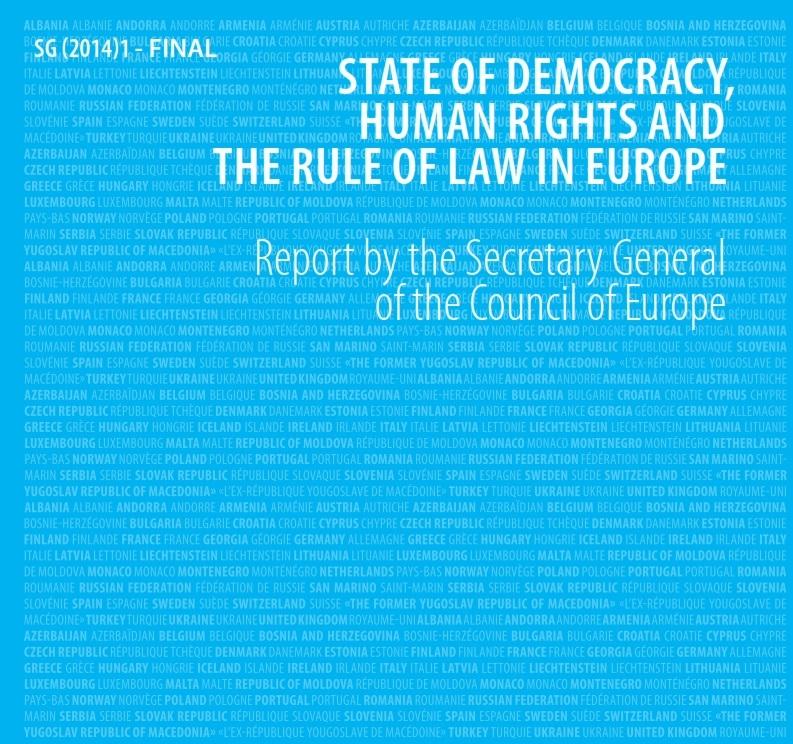 Raport Sekretarza Generalnego Rady Europy o stanie demokracji, przestrzegania praw człowieka oraz rządów prawa w Europie