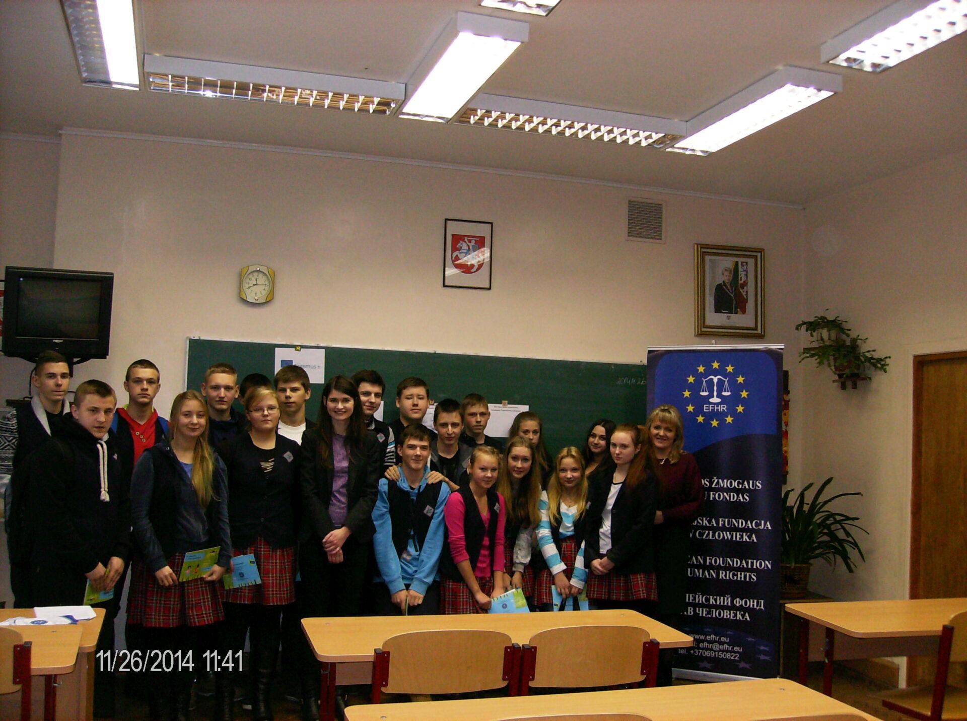 EFHR przeprowadziła warsztaty na temat praw człowieka w szkołach polskich