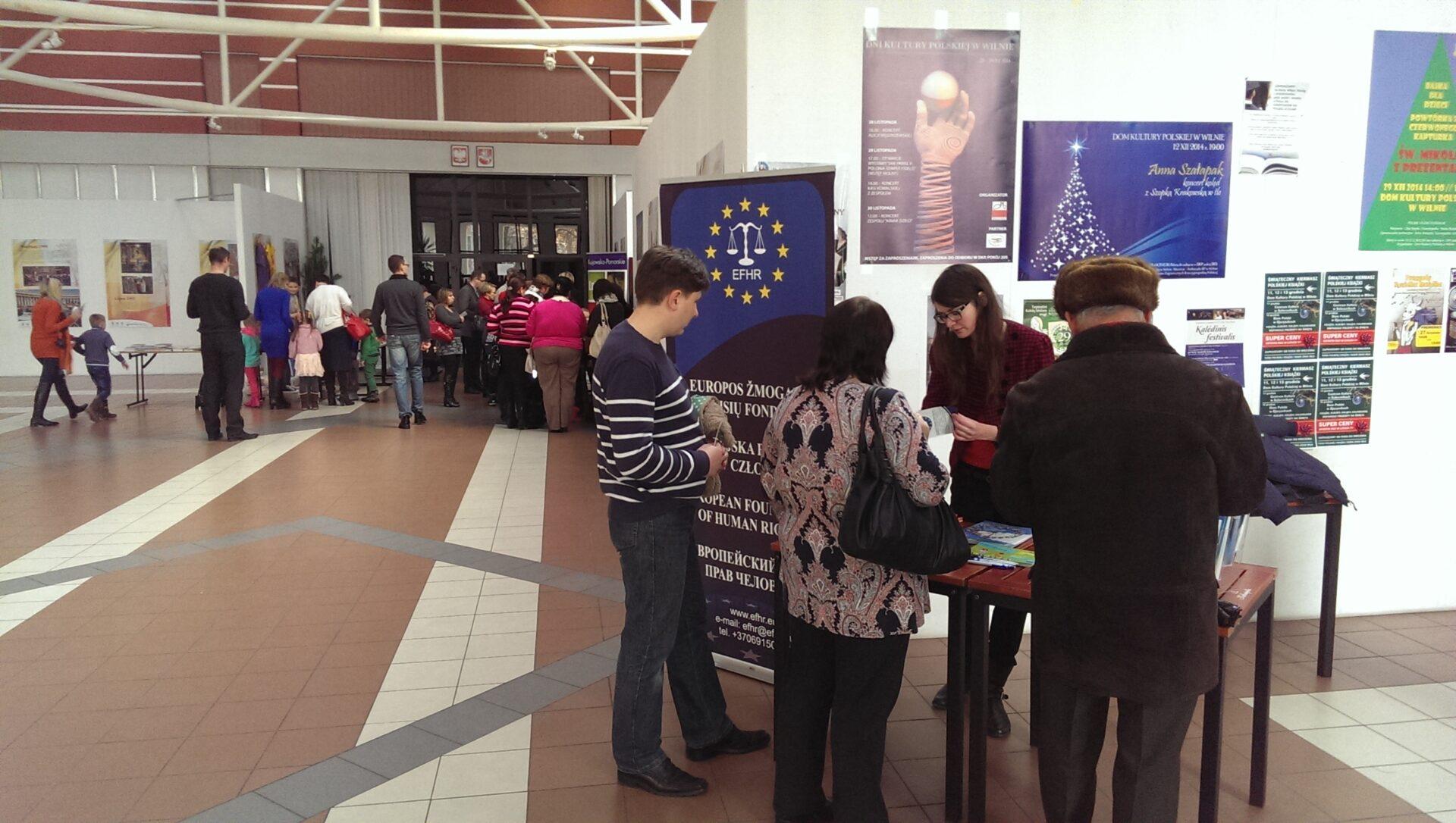 Europejska Fundacja Praw Człowieka na Dniach Kultury Polskiej w Wilnie
