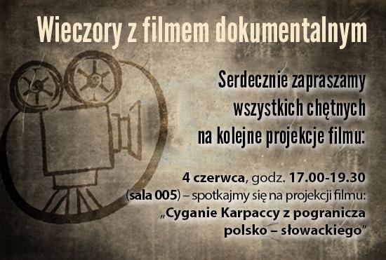 """Ciąg dalszy projekcji filmowych w ramach projektu """"Wieczory z filmem dokumentalnym"""""""