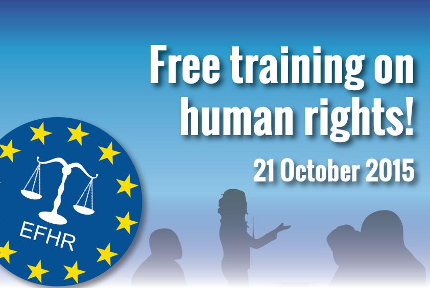 """EFHR zaprasza na szkolenia pt. """"Wdrażanie prawa międzynarodowego"""""""