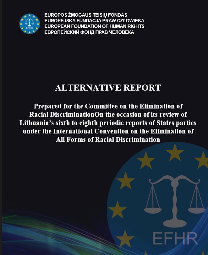 Raport Alternatywny EFHR dla Komitetu ds. Likwidacji Dyskryminacji Rasowej