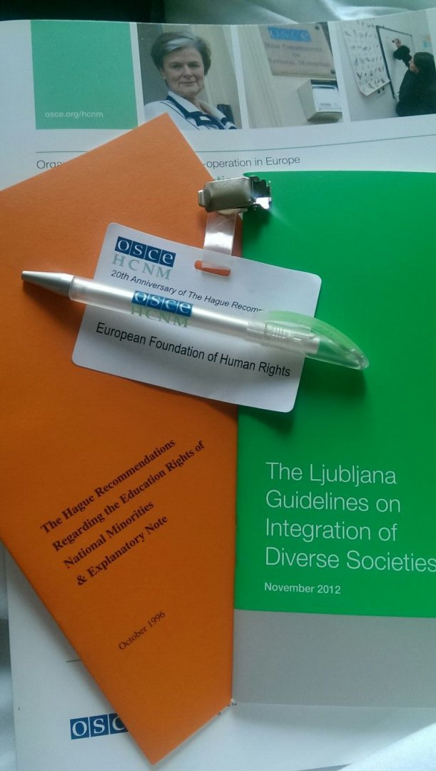 Obserwacje EFHR z konferencji o prawach oświatowych mniejszości narodowych w Hadze