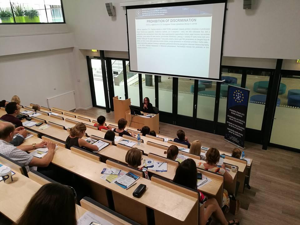 """Zakończyły się szkolenia """"Stosowanie prawa międzynarodowego oraz prawa Unii Europejskiej w sprawach o dyskryminację na Litwie"""""""