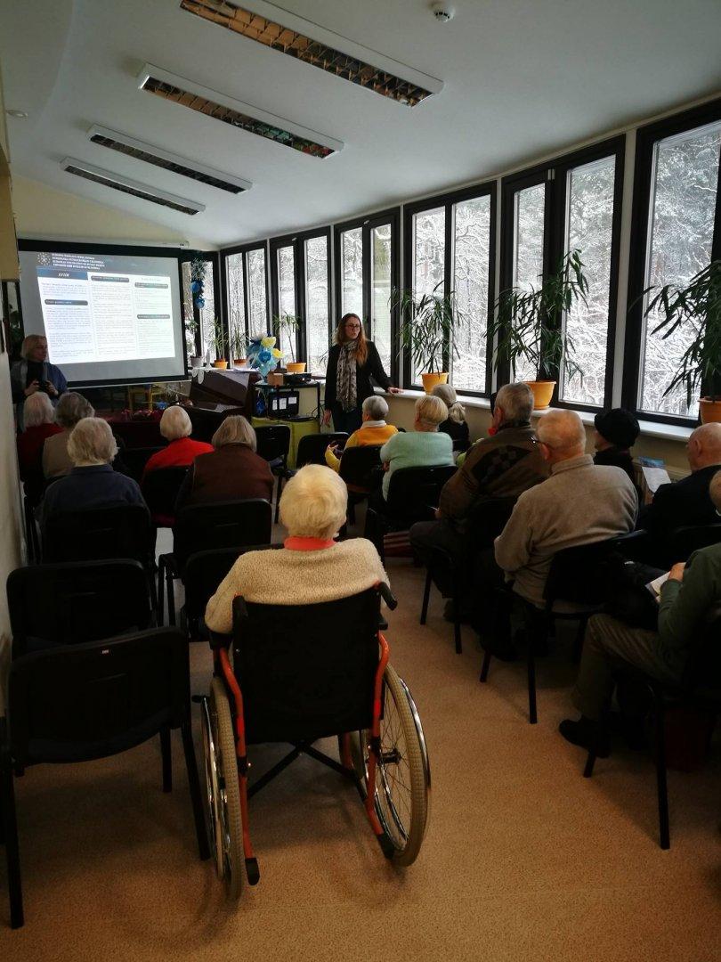 Szkolenia EFHR dla mieszkańców domu spokojnej starości w Kownie